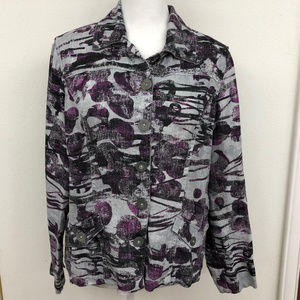 CHICO Purple & Silver Linen Shirt/Jacket
